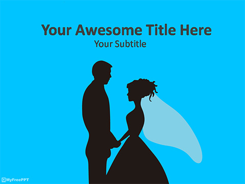 Love Marriage PowerPoint Template