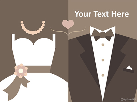 Marriage Costume PowerPoint Template
