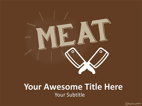 Meat PowerPoint Template