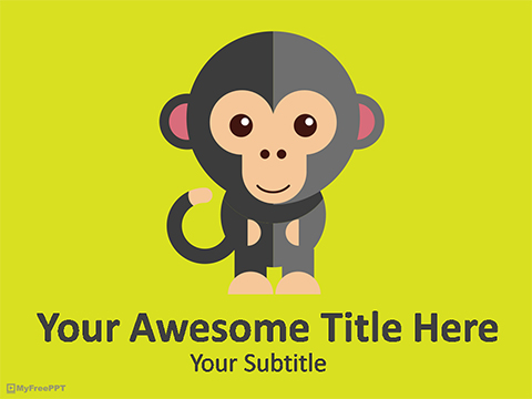 Monkey PowerPoint Template
