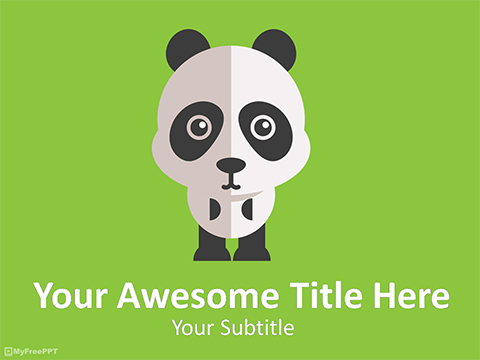 Panda Bear PowerPoint Template