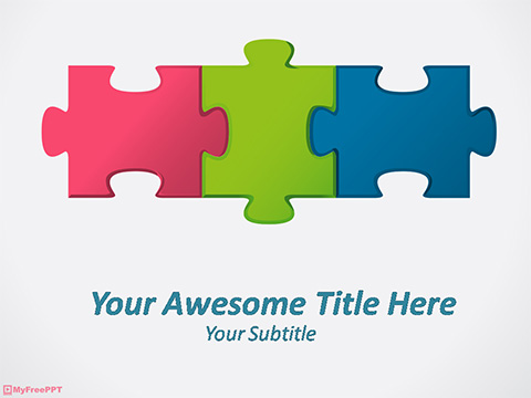 Puzzle Cubes PowerPoint Template