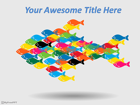 Rainbow Fishes PowerPoint Template