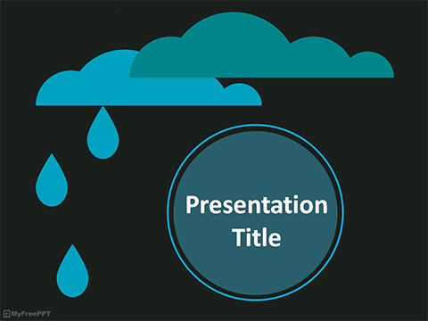Free Raining PowerPoint Template
