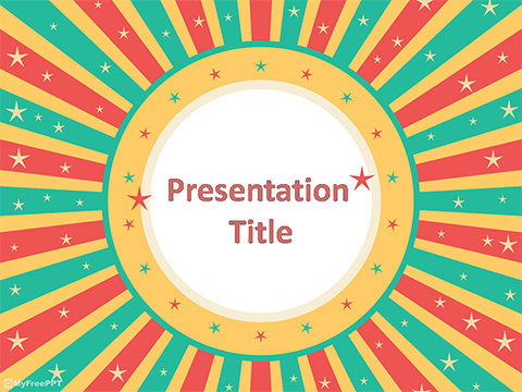 Free Retro Frame PowerPoint Template