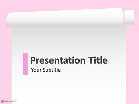 Scroll Paper Banner PowerPoint Template