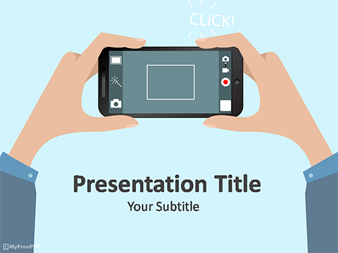 Free Mobile Photography PowerPoint Template