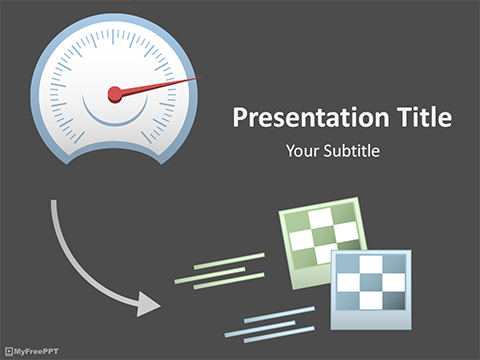 Free Speed Racing PowerPoint Template