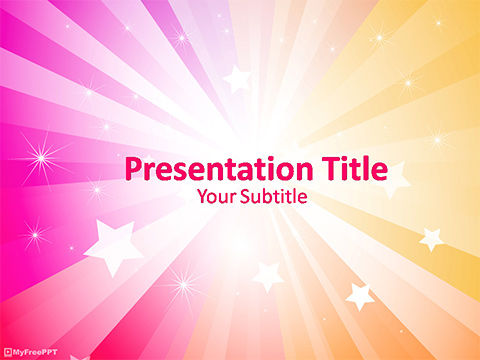 Free Shiny Sunburst PowerPoint Template