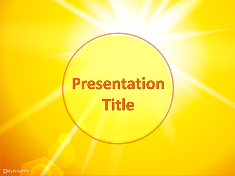Free Sunlight PowerPoint Template