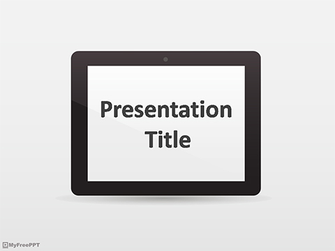 Free Tablet PC PowerPoint Template
