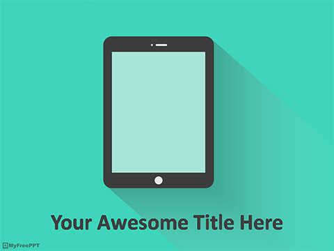 Free Tablet PowerPoint Template