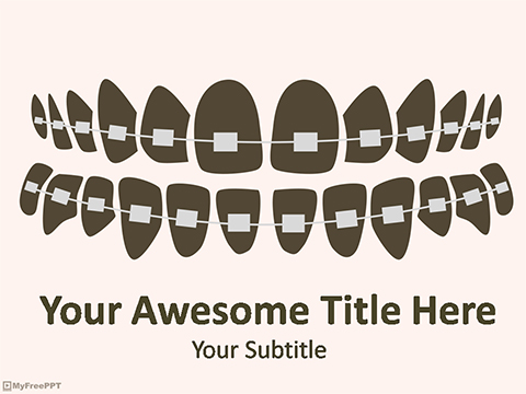 Teeth Braces PowerPoint Template