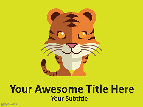 Save Tiger PowerPoint Template