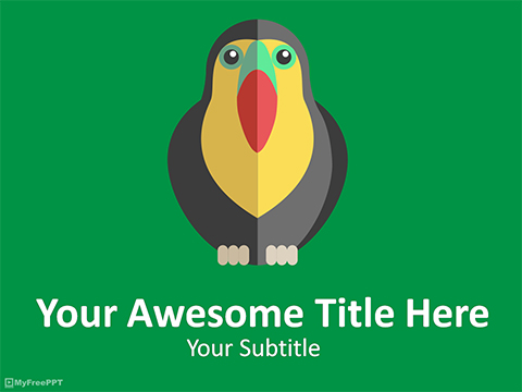 Toco Toucan Bird PowerPoint Template