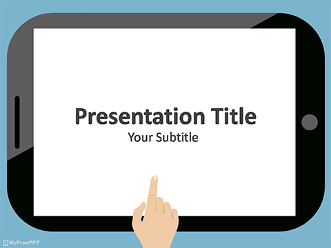 Free Touch Screen Gadget PowerPoint Template