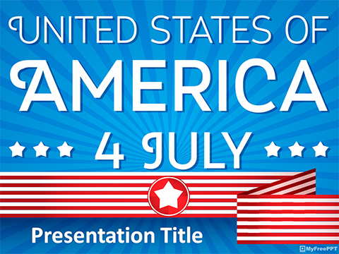 US Festival 4th of July PowerPoint Template