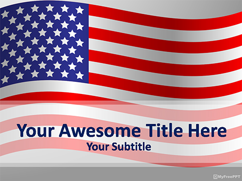 USA Flag PowerPoint Template
