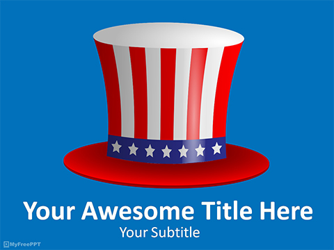 Uncle Sam Hat PowerPoint Template