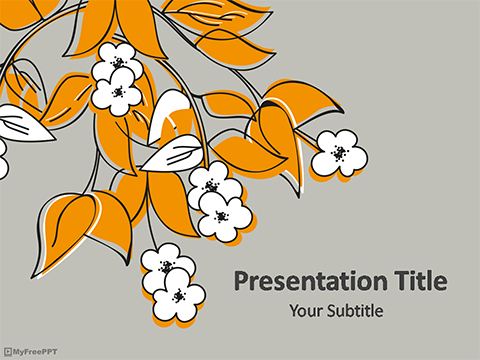 Vintage Floral PowerPoint Template