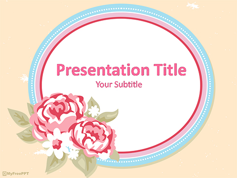 Vintage Flower Frame PowerPoint Template