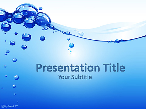 Free Water Bubbles PowerPoint Template