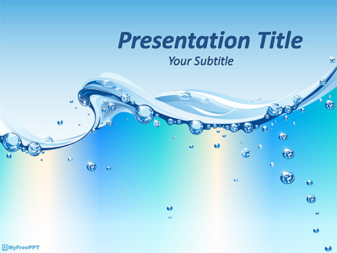Free Water Abstract Powerpoint Template Download Free
