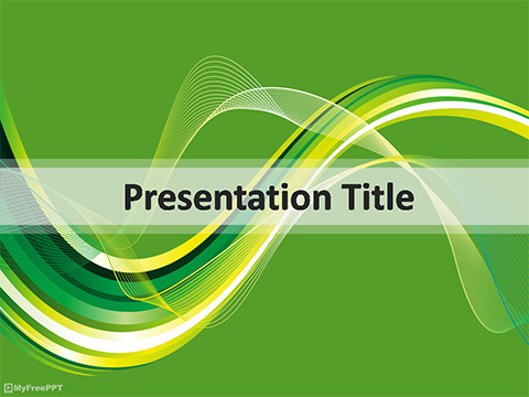 Free Wavy Abstract PowerPoint Template - Download Free PowerPoint PPT