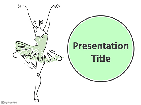 Western Dance Pose PowerPoint Template