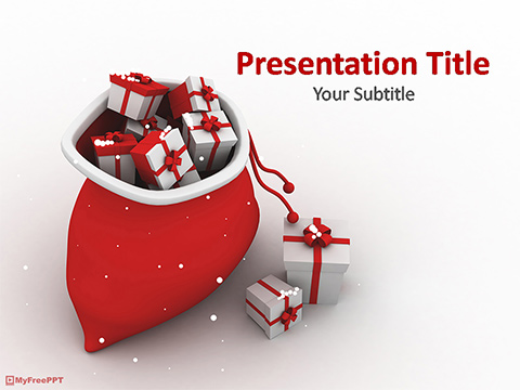 Free 3D Gift Bag PowerPoint Template