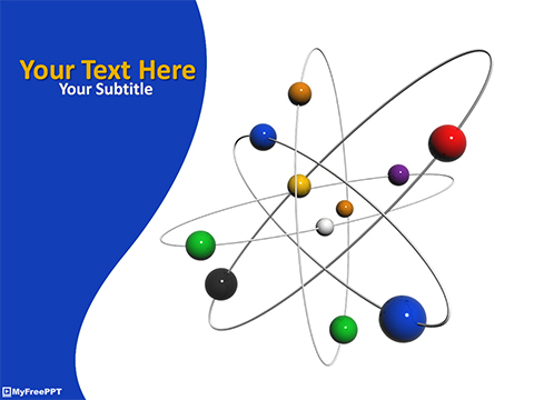 3d Atom PowerPoint Template