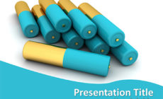 Free 3d Batteries PowerPoint Template