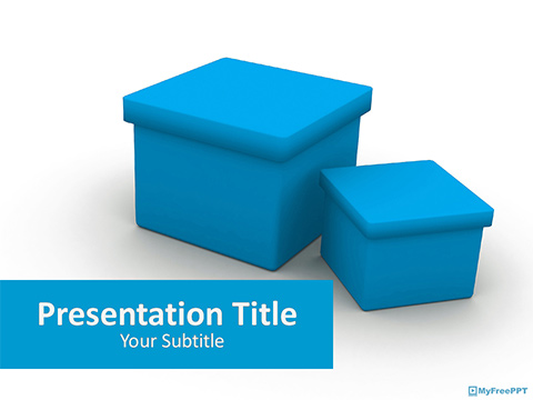 Free 3d Boxes PowerPoint Template
