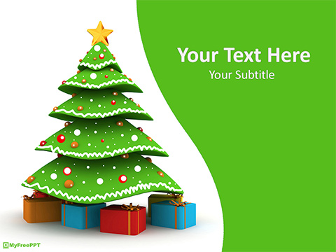 Free 3d Christmas Tree PowerPoint Template