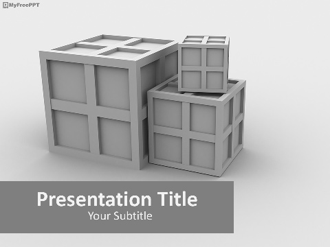 3d Containers PowerPoint Template