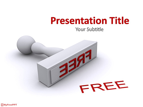 3d Free Stamp PowerPoint Template