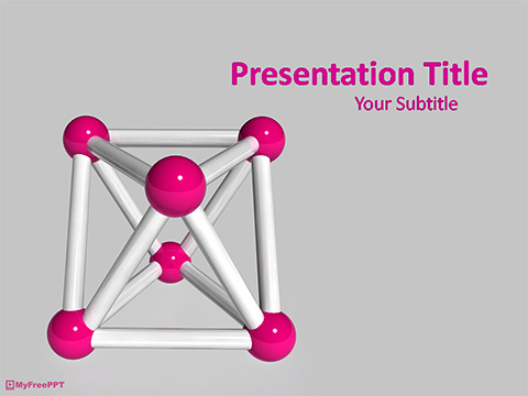 Free 3d Molecules PowerPoint Template
