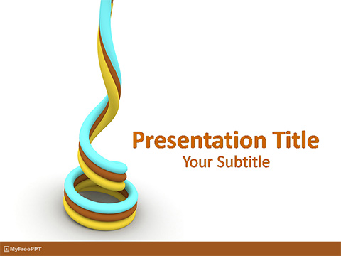 Free 3d Spiral Wires PowerPoint Template