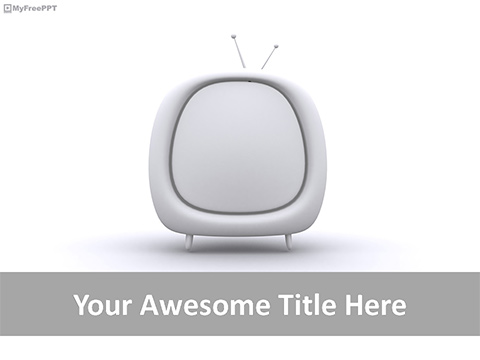 3d TV PowerPoint Template