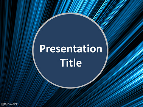 Free Abstract Motion Background PowerPoint Template