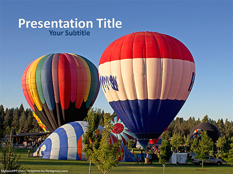 Free Air Balloons Picture PowerPoint Template