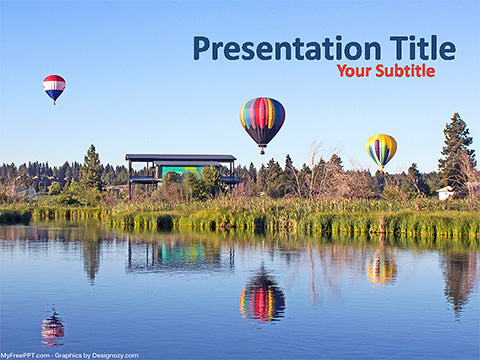 Free Air Balloons PowerPoint Template