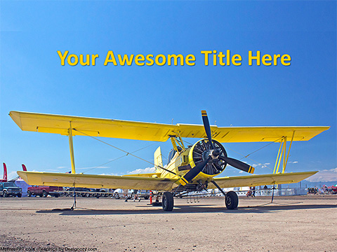 Free Airplane Taking Off PowerPoint Template