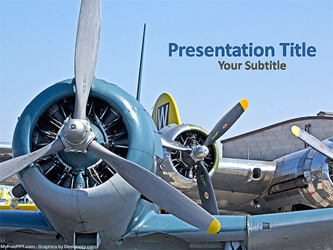 Free Airplane Wings PowerPoint Template