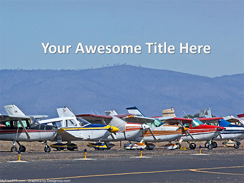 Airplanes PowerPoint Template