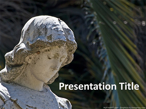 Free Ancient Statue PowerPoint Template