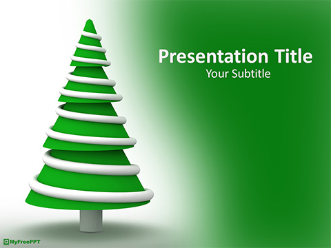Free Antique Christmas Tree PowerPoint Template