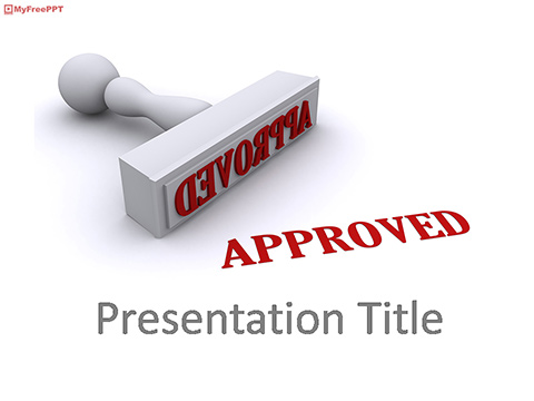 Approved Stamp PowerPoint Template