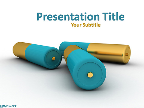 Free Batteries Type PowerPoint Template