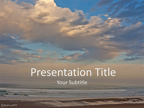 Free Beach Sea PowerPoint Template